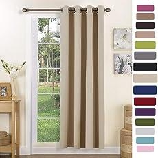 PONY DANCE Blickdicht Vorhang mit Ösen 1 Stück Energiespar & Wärmeisolierend Vorhänge 140 cm