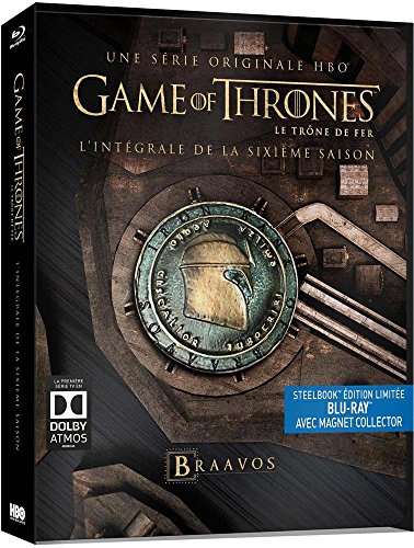 Game of Thrones (Le Trône de Fer) - Saison 6 - Edition limitée Steelbook - Blu-ray - HBO [Édition collector boîtier SteelBook + Magnet]