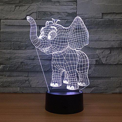 efant Acryl 3D Led Lichter Bunte Led Nachtlicht Usb Plug In Kreative Geschenke Großhandel ()