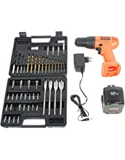 Black and Decker CD121K50 12-Volt Cordless Drill/Driver with Keyless Chuck and 50 Accessories Kit