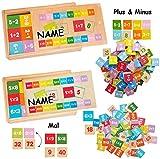 Legespiel - Rechnen üben & Lernen -  Addieren & Subtrahieren  - incl. Name - Minus Plus - Spiele aus Holz - Minus Plus - Multiplikation / Mal nehmen - Das k..