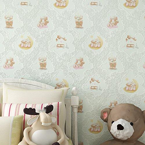 BBSLT Bambini cartoon bear non-tessuto di sfondo ragazzi e ragazze camera da letto caldo rosa stanza Principessa sfondo ,