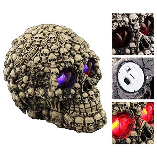 Emitting Skull HuaForCity® Halloween Puntelli Exquisite Craft Emitting Skull Horror Terrore Bufala di Halloween Vacanze Terror Giocattoli Giochi Decor di Halloween Party