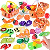 Niños Fingir Papel Jugar Cocina Fruta Vegetal Comida Juguete Set de corte Juguete de regalo zycShang (24PC)