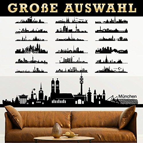 Grandora Wandtattoo Skyline Dortmund Wohnzimmer Städte der Welt Aufkleber selbstklebend Wandaufkleber Wandsticker Sticker W5156