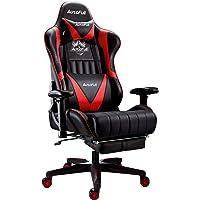 AutoFull Gaming Stuhl Schreibtischstuhl Gamer Ergonomischer PU-Leder Bürostuhl,Einstellbare Sitzhöhe und…