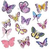 Tomzon Autokleber mit Bunte Schmetterlinge