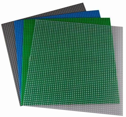 Strictly Briks Bauplatten - kompatibel mit Allen führenden Marken - Set aus 4 Platten - je 15,75