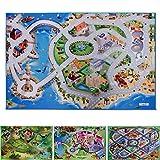 Spielmatte Am Meer | Küstenstadt | Phthalat-frei | erweiterbar zu einer riesigen Spiellandschaft | 100 x 150 cm