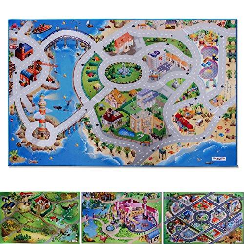 Spielmatte Am Meer   Küstenstadt   Phthalat-frei   erweiterbar zu einer riesigen Spiellandschaft   100 x 150 cm