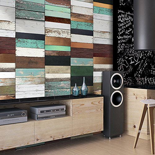 murando - PURO TAPETE - Realistische Tapete ohne Rapport und Versatz - Kein sich wiederholendes Muster - 10m Vlies Tapetenrolle - Wandtapete - modern design - Fototapete - Holz Holzoptik Bretter f-A-0278-j-b