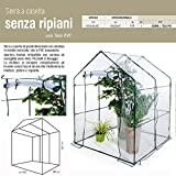 Biacchi Serre pour jardin, terrasse et balcon en métal et PVC 140 x 140 x 197 cm