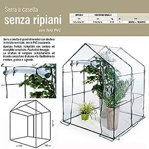 Serra a casetta 140x140xh197 telo PVC giardinaggio balcone piante fiori 647-12