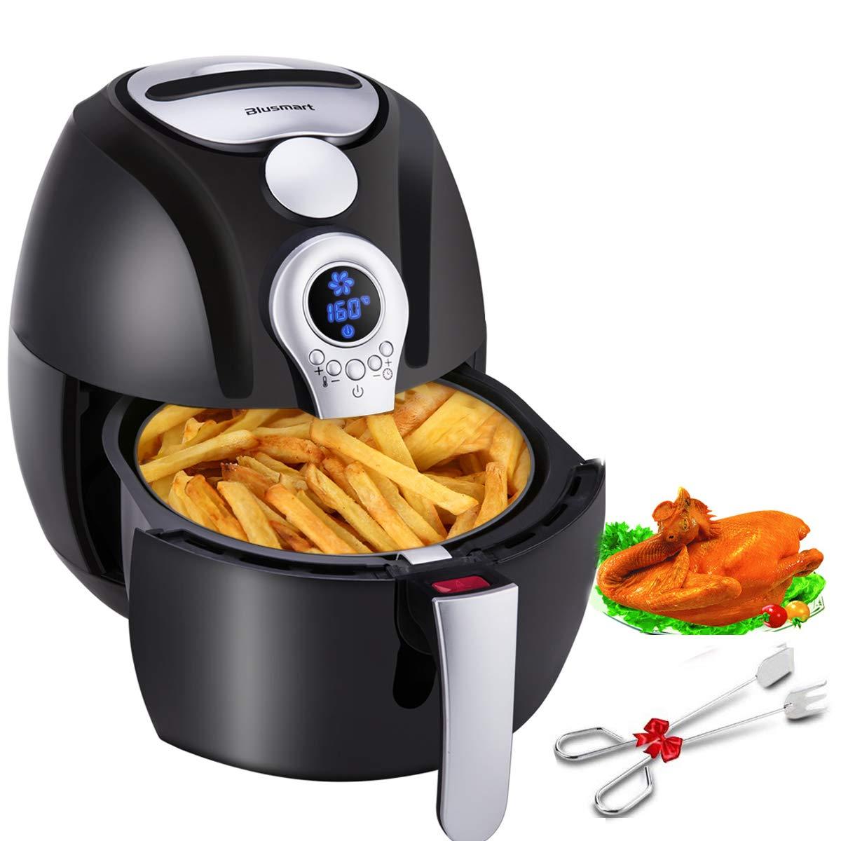 Blusmart Heißluftfritteuse 3,2 Liter XL Air Fryer mit Digitale Display | fritteuse ohne fett | 1400 Watt gesundes Kochen Heissluft Fritteusen (mit