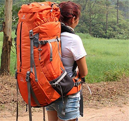 ALUK-Borsa arrampicata all'aperto tracolla zaino trekking impermeabile zaino L'arancia