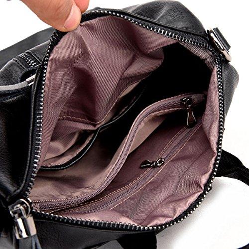 Dame Rucksack Umhängetasche Fashion Wild Schultasche Lady Multifunktions Einfache Handtaschen E