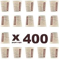 """Lot de 400 gobelets à Coffee to go. Gobelet en carton, 200 ml. Résistant à la chaleur. """"Coffee to go haut"""""""