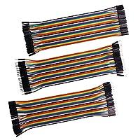 Jtdeal 120 PCS Jumper Wires 20 cm Länge, männlich auf männlich, weiblich Rainbow Dupont Kabel Draht Steckbrücken mit 2,54 mm Abstand Pin Header-Bandkabel-Set für Raspberry Pi und Arduino