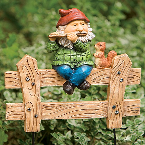 bits-and-pieces-gnome-on-a-fence-decorative-stake-garden-plants-and-yard-decoration