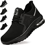 Safety Shoes Trainers for Men Women Lightweight Breathable Work Shoes Sneakers with Steel Toe Cap Industrial & Construction S