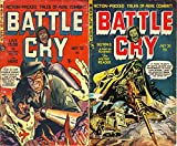 Battle Cry. Issues 1 and 2. Actioned pack tales of real combat. Live to die, a pint of plasma and The meter reader. Golden Age Digital Comics Military and War. (English Edition)