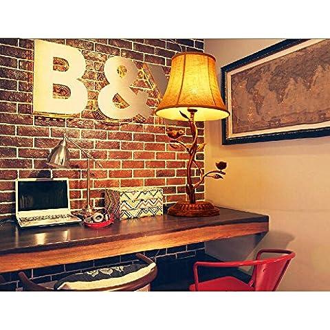 KHSKX Camera da letto comodino lampade, paese dell'uccello, lampada decorativa vintage soggiorno studio camera idee