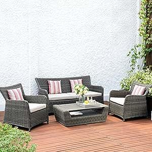 Lifestyle Amola jardin Garden Furniture Canapé 2 places Gris