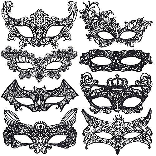 Lictin Lace Masquerade Maske Damen Maskenspiel Frauen Sexy Augenmaske Venetian Gesichtsmaske Karneval Maskerade für Hallween Weihnachten Party