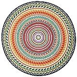 Teppichmaterial Teppich Kurzflorteppich Design Flur Wohnzimmer Küchenteppich Schlafzimmerteppich Runder Folk-Brauch Verdicken Rutschfest Einfach Modern ZHANGQIANG