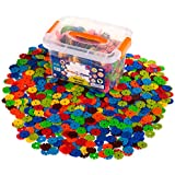 Creative Kids Brain Flakes – Large 1400 Piece Interlocking Plastic Disc Set For Safe, Fun, Creative Building – Educational STEM Construction Toy For Boys & Girls - Non Toxic – Ages 3 And Up