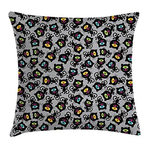 Children Throw Pillow Cushion Cover, Princess Castle Above Wooden Bridge and Phoenix Bird Fairy Dream World Girls Image, Decorative Square Accent Pillow Case, 18 X 18 inches, Multicolor