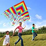 Colorful Beautiful Kite Huge Rainbow Kite Animal patter for Kids Girls,Boys,Adults