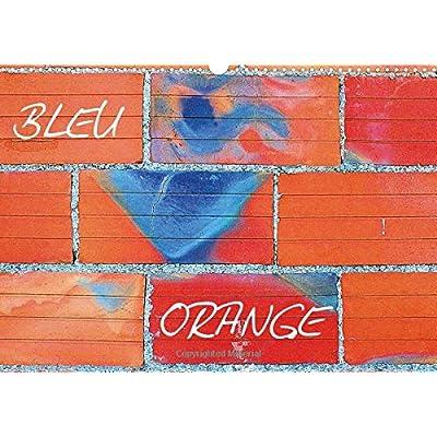 Bleu orange : Deux couleurs s'opposent dans une tempête intemporelle. Calendrier mural A3 horizontal 2016