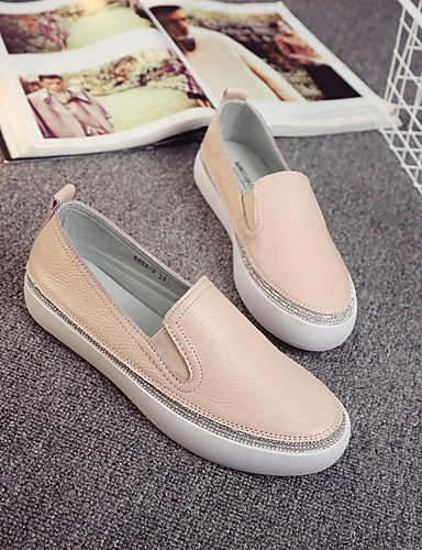 ZQ gyht Scarpe Donna-Sneakers alla moda / Mocassini-Casual-Comoda / Chiusa / Stivali-Piatto-Di pelle-Rosa / Bianco , pink-us8 / eu39 / uk6 / cn39 , pink-us8 / eu39 / uk6 / cn39 cream-us5.5 / eu36 / uk3.5 / cn35