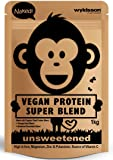 Naked Vegan Protein Powder Super Blend (1kg - 50 Servings) Unsweetened, with Vital Minerals, Organic Plant Based Protein with Omega Blend & Botanical Essentials, Gluten Free, Dairy Free, Unflavoured