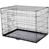 Confidence Pet Dog Folding 2 Door Crate Puppy Carrier Training Cage W/O Bed S