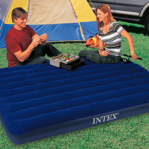 Intex Luftbett Classic Downy Blue Queen, Blau, 152 x 203 x 22 cm - 3