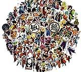 [100 Stück] Dragon Ball Aufkleber Z • Decal DBZ Anime Goku Super Saiyan Vinyl Vegeta Bulma Geschenk Aufkleber für Laptop Comic New 2019 Set