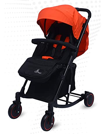 Roll over image to zoom in R for Rabbit Rock N Roll - The Rocking Baby Stroller and Pram for Baby/Kids with Easy Compact Folding(Red Black)