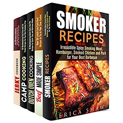 Meat Recipes and Outdoor Cooking Box Set (5 in 1): Over 200 Smiking Meat, Slow Cooker Beef, Dutch Oven, Foil Packet and Jerky Recipes for True Meat Lovers (Smoker Recipes & Jerky)