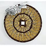 PAISLEYS Curvo Decorative Round Gift Basket, Brown, Silver Small Size.