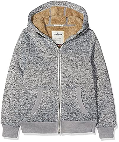 TOM TAILOR Kids Jungen Jacke Knitted Jacket with Teddy Fur