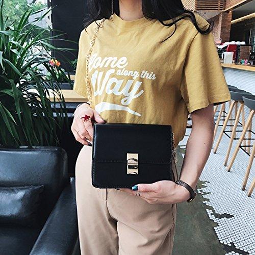 Tofu Paket Mode-Hand Kleines Quadratische Tasche Schulter Diagonal Paket Paket Schwarz