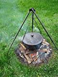 Tradehub Gulaschkessel Gulaschtopf Kochtopf mit Dreibein für Feuer Feuerstelle Garten aus Gusseisen   Fassungsvermögen: 10 L