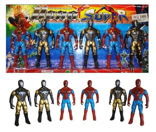 Image of Spiderman 4 Action Figures by Best Line