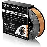Stahlwerk MIG/MAG - Alambre de soldadura (diámetro de 0,8 mm, acero SG3 ER70S-6, en rollo de 5 kg S200/D200 con espiga de 50