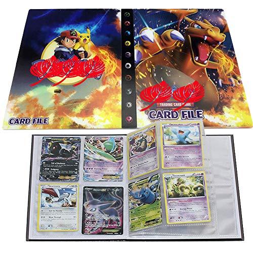 UHIPPO Pokemon Karten Album, Pokemon Karten Halter, Pokemon Ordner für Karten Album Buch Bester Schutz für Pokemon Sammel Karten GX EX Box(Charizard)