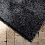 Floordirekt Shaggy-Teppich Prestige | weicher Hochflor Teppich für Wohnzimmer, Schlafzimmer, Kinderzimmer | Dunkelgrau | Viele Größen (Dunkelgrau, 200x290 cm)