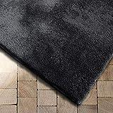Floordirekt Shaggy-Teppich Prestige | Super-Hochflor | Extra flauschig (200 x 200 cm, Dunkelgrau)