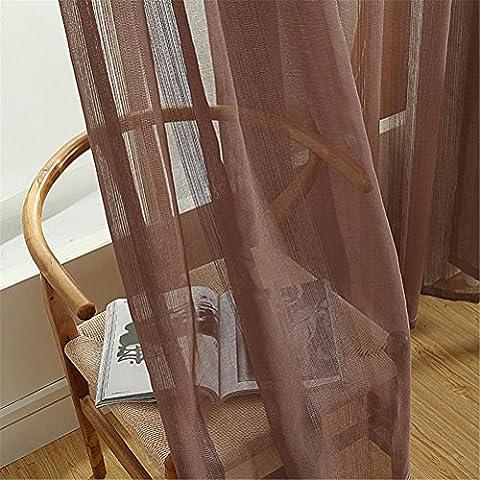 Rideaux Largeur 42 Cm - WERM® Rideaux en tulle Couleurs solides Rangements